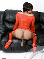 Ebony TS Goodbar posing her big dick