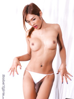 Tempting ladyboy Fish pleasuring herself