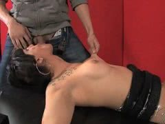 TS slave Kelly gets fucked and peed on