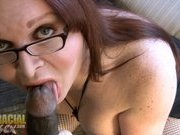 Horny Wendy blows a huge black dick