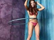 TS Jenna Rachel shows off her hula-hoop skills