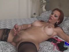 Mature shemale Brittany Coxxx loves to fuck young studs