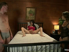 Eva Lin fucks married couple