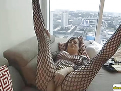 Horny Wendy Williams in sexy fushnets