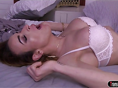 TS Savannah Thorne has the hots for her sis bf and gives in