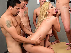 Sexy Barbara Perez gangbanged by some guys