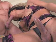TS Yanka Meirelles getting her ass stretched by a thick fuck rod