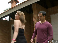 Magnificent Latina tranny Alessandra Leite takes a good pounding