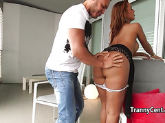 Sexy Nicolly Nogueira got her big juicy ass drilled by a hunk