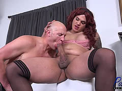 Massive cock Scarlett Peggings raw fucking male ass