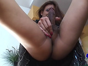 Sexy shemale Gia shows off her nice rod