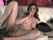 Hot TMILF Jasmine Jewels poses and smokes