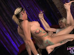 Naughty Morgan Bailey screwing Angelina Torres