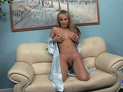 Passable blonde tranny shows you her amazing body