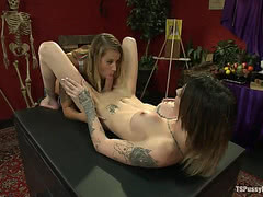 Horny female moaning being fucked hard and fast by TS Chelsea Marie