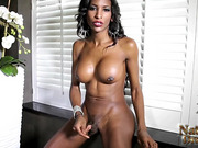 Hot Natassia strips and fingers