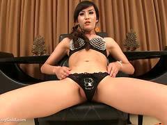 Sexy asian ladyboy playing