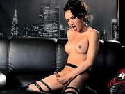 Amazing Jessica toying her butt
