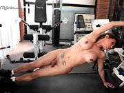 Seductive Jessy working out naked