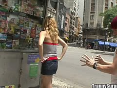 Dude pick up sexy tgirl on the street