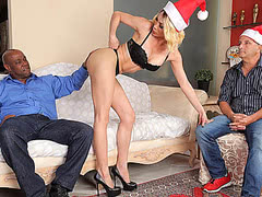 Lasyboy get's her ass fucked for her Christmas gift