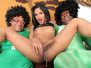 Jessi Martinez is one hot sexy tranny wanting two cocks at once