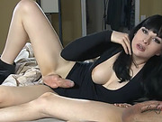 Horny Bailey riding a juicy dick