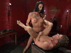 Morgan Bailey anal fucks guy till orgasm