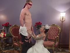 Bride Foxxy sucks and fucks her horny husband