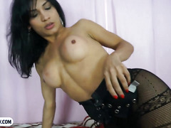 Tasty tranny from Brazil hot blowjob and deep anal fucking
