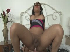 Ghetto tranny Nody Nadia wth big boobs gets asshole ripped