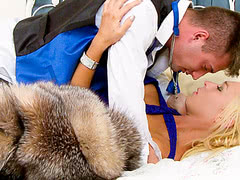 TS Aubrey Kate makes love to her lover after her prom