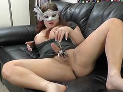 Naughty Tiffany spreading and toying