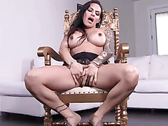 Amazing Foxxy strip and foot play
