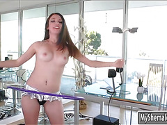 Sexy TS Nina Lawless fucked redhead babe Kassondra Rain