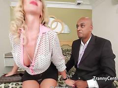 Hot tranny in lingerie hard fucked