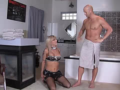 Big Christian XXX fucks slender mature tgirl