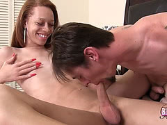 Skinny black t-girl sucked and fucked