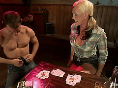 Morgan Bailey wins on strip poker