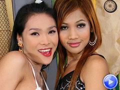 Thai katoey Fanta gets fucked by her ladyboy girlfriend