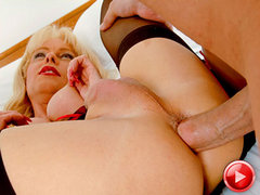 Famed English tgirl MILF Joanna Jet gets fucked hard