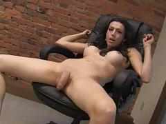 Hard tranny wants to stroke her hard meat