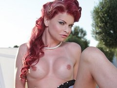 Hot TGirl Liberty Harkness enjoying her self
