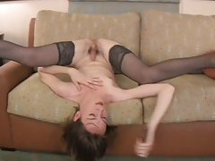 Texas Tgirl Strokes Her Meat and Toys Her Ass