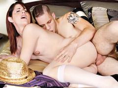 Horny stud gets the taste of cute tranny asshole fucking!