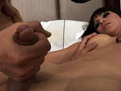 Asian guy sucks and fucks hot ladyboy
