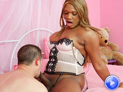 Thick Black tranny gets fucked by Danny Cannon