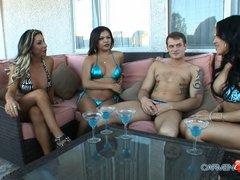 Carmen & the girls expose their secret to the pool boy