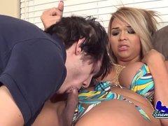 Busty Kim Diamond getting her big ass hard fucked