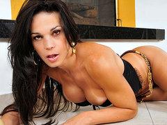 Sultry transsexual hottie Amanda Bergman